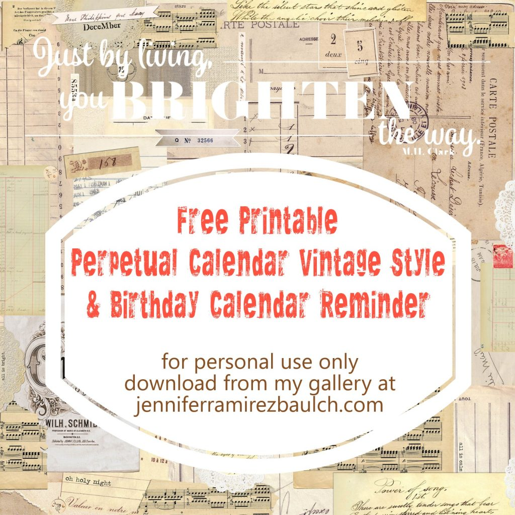 photo regarding Printable Perpetual Calendars called Totally free Printable Perpetual Calendars and Planners 2018 Record